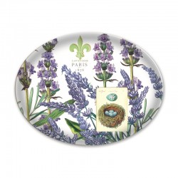 Oval glass soap dish - Lavender Rosemary