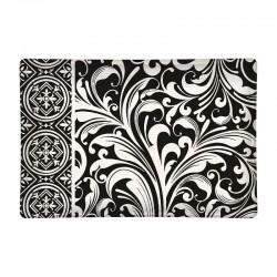 Rectangle glass soap dish - Black Florentine