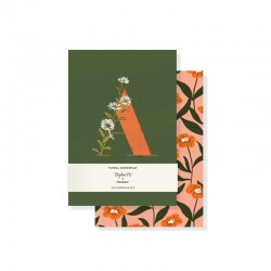 Set 2 mini journals - Monogram Floral A