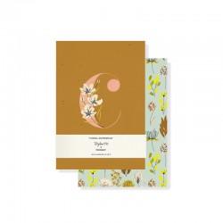 Set 2 mini journals - Monogram Floral C