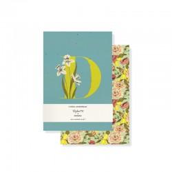 Set 2 mini journals - Monogram Floral D