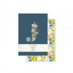 Set 2 mini journals - Monogram Floral J