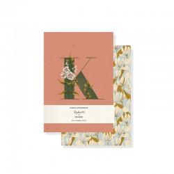 Set 2 mini journals - Monogram Floral K