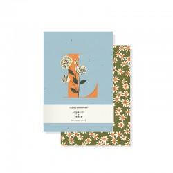 Set 2 mini journals - Monogram Floral L