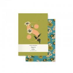 Set 2 mini journals - Monogram Floral S