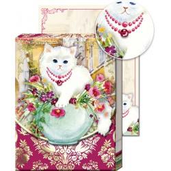 Pocket Carnet Notes 'Chat & Vase'