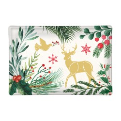 Rectangle glass soap dish - Joy to the World