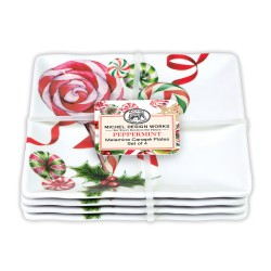 Canape plate set 4 - Peppermint