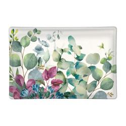 Rectangle glass soap dish - Eucalyptus & Mint