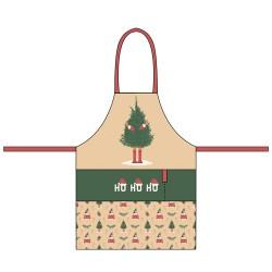 Organic kitchen apron Ho Ho Ho - Chic Mic