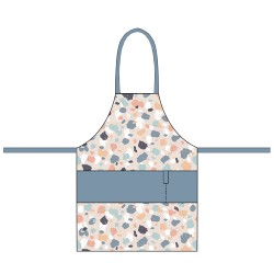 Organic kitchen apron Terrazo - Chic Mic