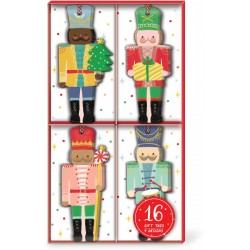 Boxed gift tag s16 - Nutcrackers