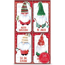 Boxed gift tag s16 - Gnomes