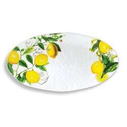 Plat oval mélamine 'Lemon Basil'