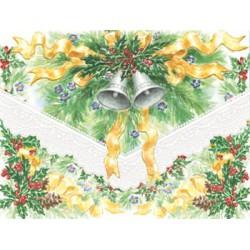 Pochette Correspondance Noël 'Holly & Ribbons & Bells'
