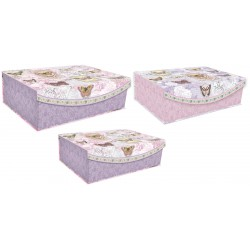 Set 3 boîtes rect. GM 'Amethyst Butterfly'