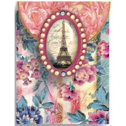 Pocket Carnet Notes 'Wallpaper Eiffel Brooch'