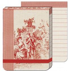 Pocket Carnet Notes (élastique rouge) 'Toile'