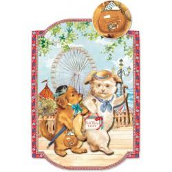 Carte Double GM 3D & ENV. 'Dogs'