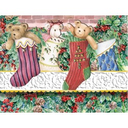 Pochette Correspondance Noël 'Socks & Bears'