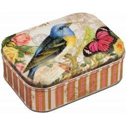 Boîte Rectangulaire PM Nostalgia 'Bird & Butterfly'