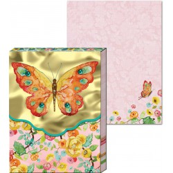 Pocket Carnet Notes 'Orange Butterfly'