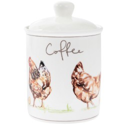 Boîte ronde Chikens 'Coffee'