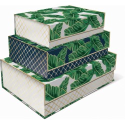 Set 3 boîtes rectangulaires GM 'Banana Leaves'