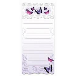 Bloc shopping aimanté 'Purple Butterfly'
