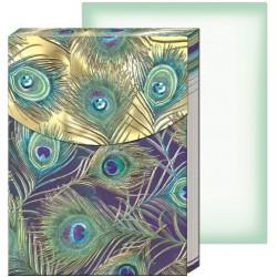 Pocket carnet de notes 'Peacock feather'