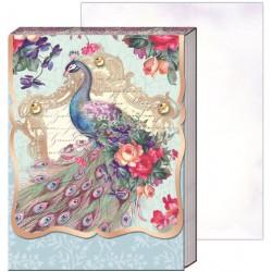 Pocket carnet de notes 'Blushing peacock'