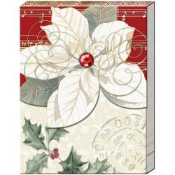 Pocket Carnet Notes Noël 'White poinsettia'