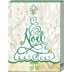 Pocket Carnet Notes Noël 'Santa's Sleigh'