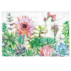 Tapis en coton 'Pink Cactus'