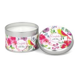 Bougie parfumée (boîte métal, 113 gr) 'Confetti'