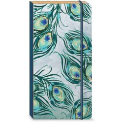 Carnet de notes long Bungee 'Emerald Peacock'