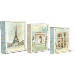 Set 3 boîtes livres GM 'Scenes of Paris'