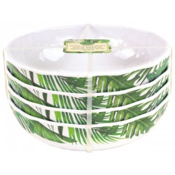 Set de 4 assiettes creuses 'Palm Breeze'