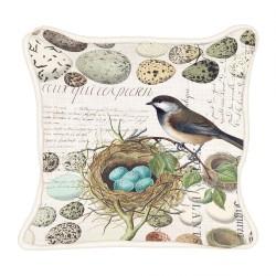 Coussin carré 'Nest & Eggs'
