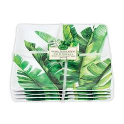 Set 4 assiettes carrées PM 'Palm Breeze'