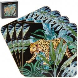 Set de 4 dessous de verre 'Jungle Fever'