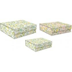 Set 3 boîtes carrées GM 'Tiny Yellow'