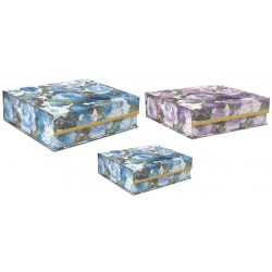 Set 3 boîtes carrées GM 'Beautiful Bouquet'