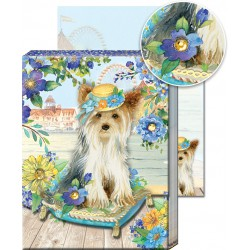 Pocket Carnet Notes 'Chien & Coussin'
