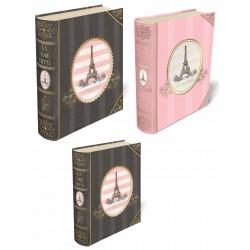 Set 3 boîtes livres GM 'Eiffel Tower Oval'