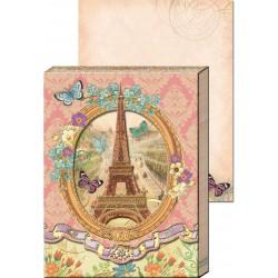 Pocket Carnet Notes Window 'Tour Eiffel & Myosotis'