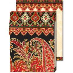 Pocket Carnet Notes Paisley 'Rouge/Noir'
