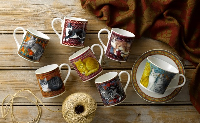 Mugs Lesley Anne Ivory Cats
