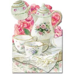 Carte Double GM 3D & ENV. 'Tea Time'
