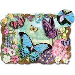 Carte Double GM 3D & ENV. 'Butterflies'